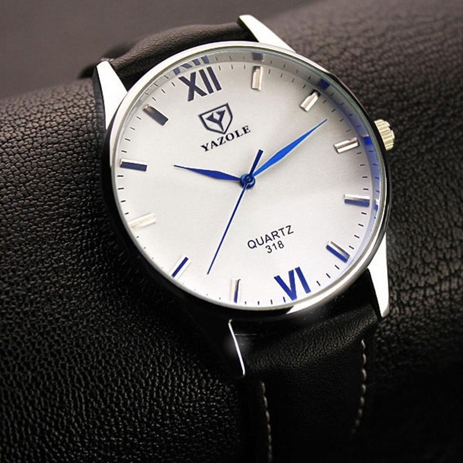 reloj hombre grande acero vidrio blanco con brillo azul. Cargando zoom. e25473acdce8