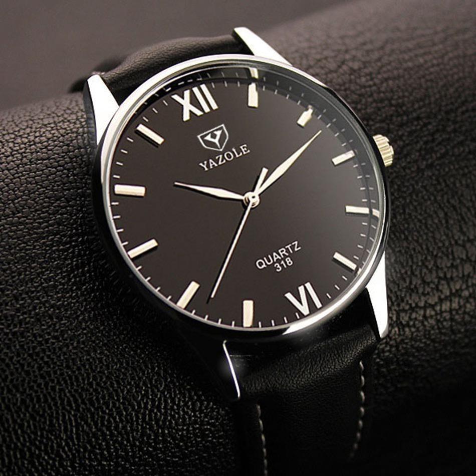 Reloj Hombre Grande Acero Vidrio Negro Con Brillo Azul -   189.00 en ... 65945c85b0c2