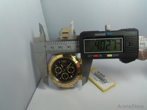 reloj hombre invicta crono speedway enchape oro 18k 9224