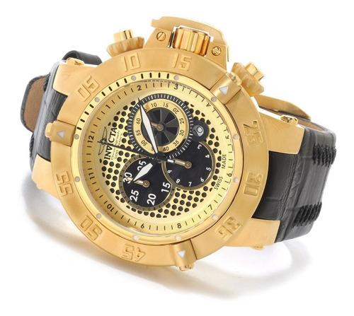 reloj hombre invicta swiss made subaqua  18k
