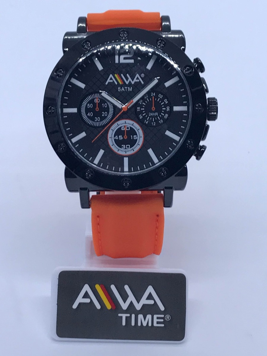Aiwa Malla Silicona De Reloj Garantia 30m Resistente Hombre CWBorxde