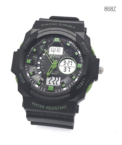 reloj hombre marca xinjia resistente al agua 50mts 868