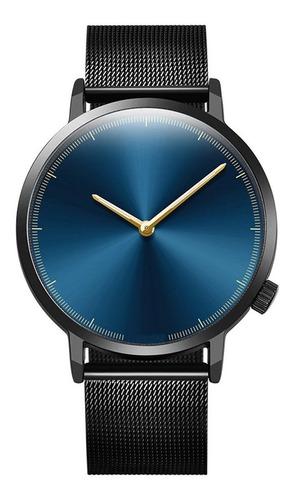 reloj hombre masculino , malla metalica + estuche
