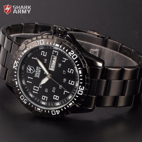 reloj hombre militar shark análogo army envío gratis