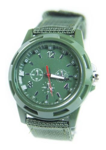 reloj hombre militar tactico malla de tela colores importado
