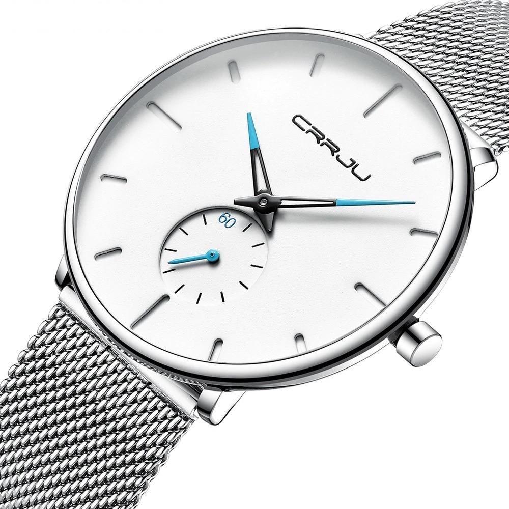 precio color atractivo comparar el precio Reloj Hombre Minimalista Crrju Moda 2019 Con Caja Original