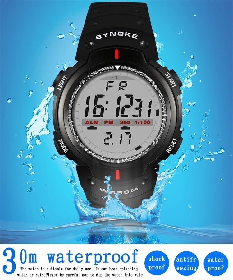 c7cdaa6ffaf5 Reloj Hombre Mujer Digital Synoke Sumergible Luz Led -   199.00 en ...