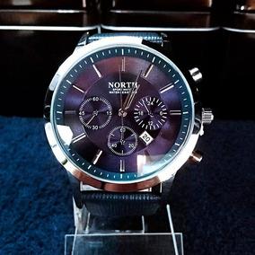 Nuevo Original Hombre Ejecutivo North Elegante Reloj Fecha 4jR5AL