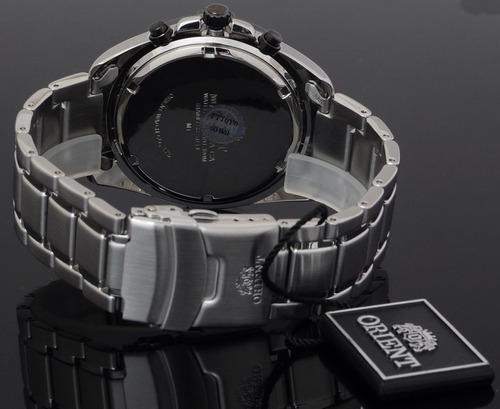 reloj hombre orient fttoy003w  cronografo tecnología japón