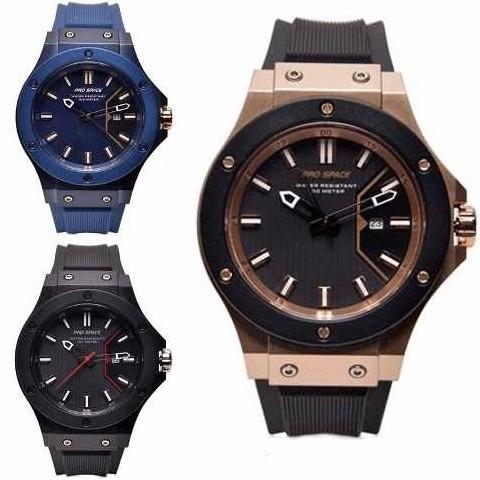 reloj hombre pro space psh0074 negro calendario sumergible
