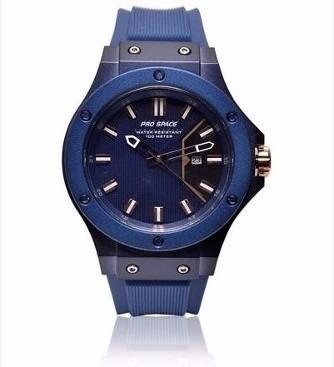 reloj hombre pro space psh0074 oro calendario sumergible