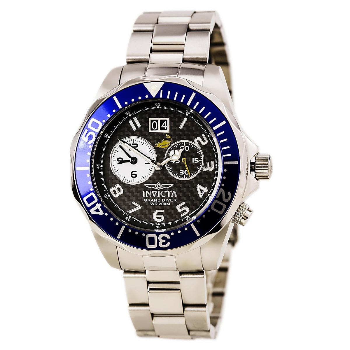 Reloj Invicta Para Hombre 14442 Pulsera En Acero Bisel Azul ... 8150a15e6f44