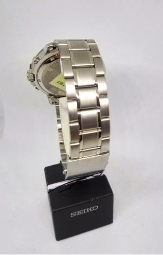 reloj hombre seiko acero cronografo original sks443p1