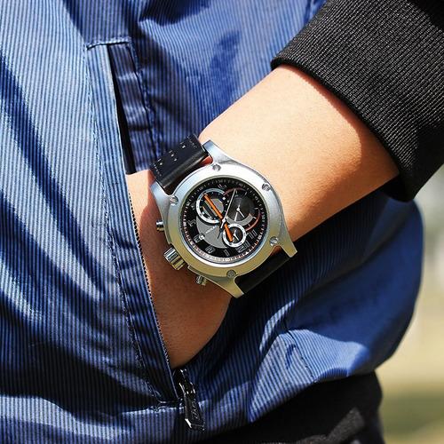reloj hombre sinobi heavy metal cronografo