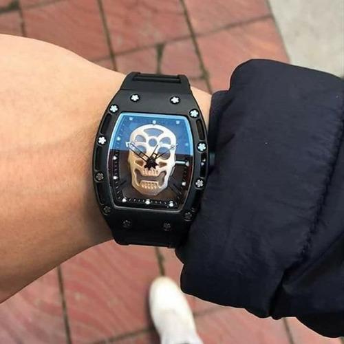 reloj hombre skeleton tactico militar vip skull craneo .