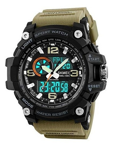 reloj hombre skmei 1155 militar moderno sumergible kha spec