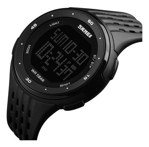 reloj hombre skmei 1219 cronómetro alarma luz cuenta regresiva sumergible
