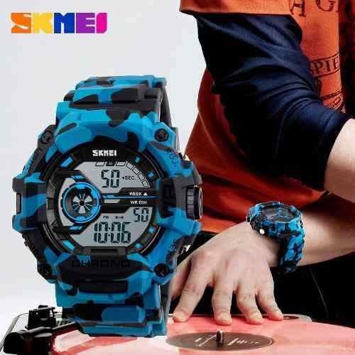 reloj hombre skmei 1233 militar camuflado sumergible gtia