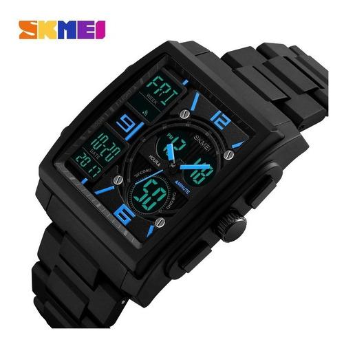 reloj hombre skmei 1274 crono alarma timer luz garantía