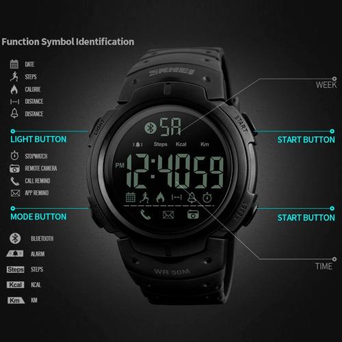 reloj hombre skmei 1301 digital bluetooth sumergible