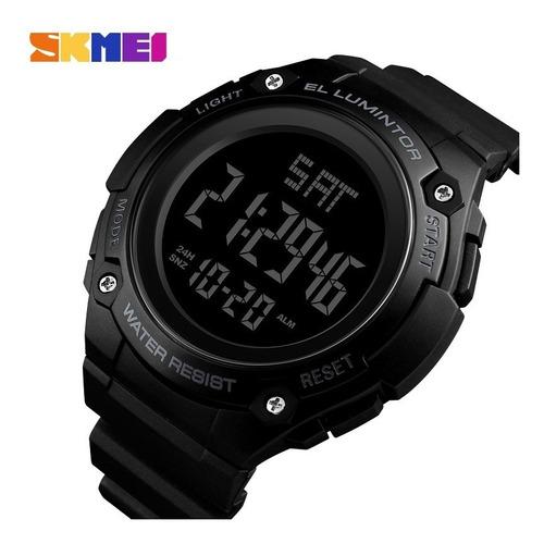 reloj hombre skmei 1346 cronómetro alarma luz cuenta regresiva sumergible