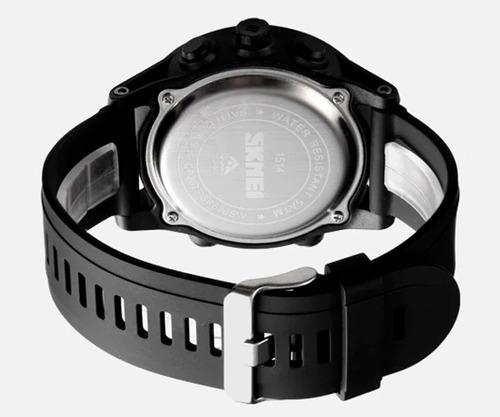 reloj hombre skmei 1514 doble hora resistente al agua - azul