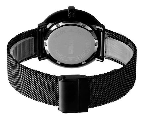 reloj hombre skmei 9185 cuarzo acero inoxidable elegante