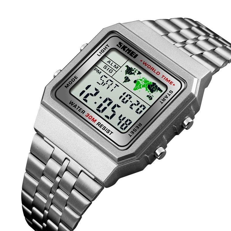 d42a8cc58fb6 Reloj Hombre Skmei 1338 Crono Alarma Timer Acero Gtia 1 Año -   679 ...