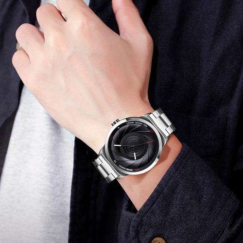 reloj hombre skmei acero inoxidable + caja de regalo