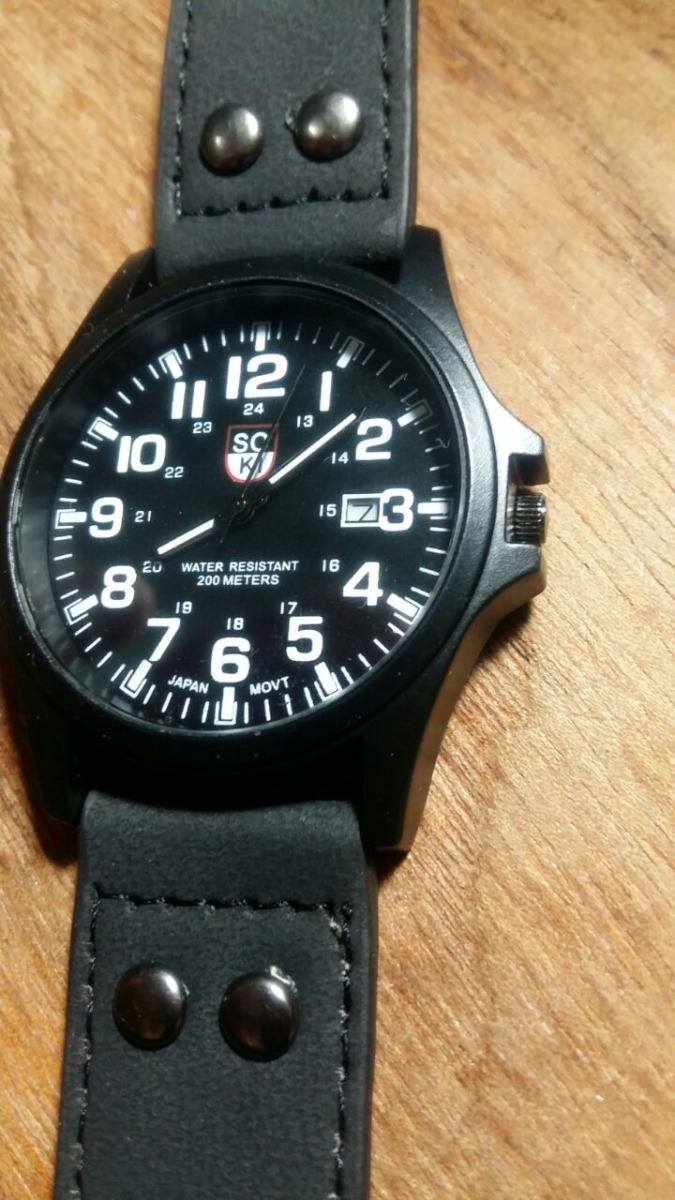 reloj hombre - sport - analogico - cuero - fecha - soki. Cargando zoom. d98ab94fc902