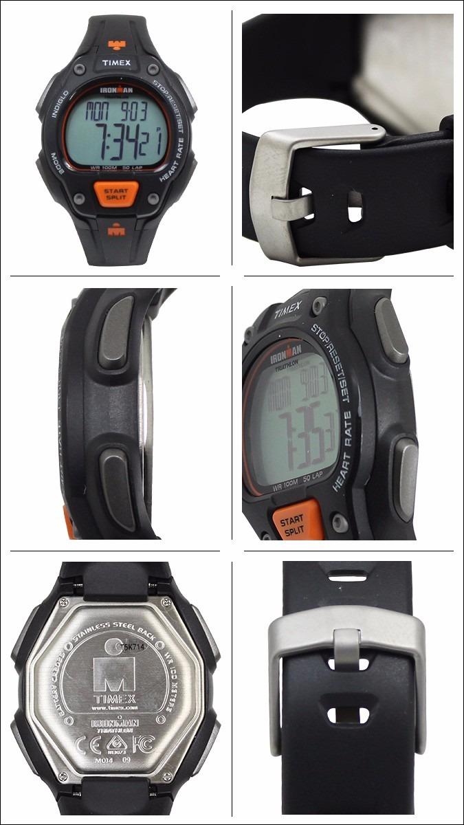 1b53539d8dec Reloj Hombre Timex Ironman Mod. T5k720- Negro Y Naranja -   5.449