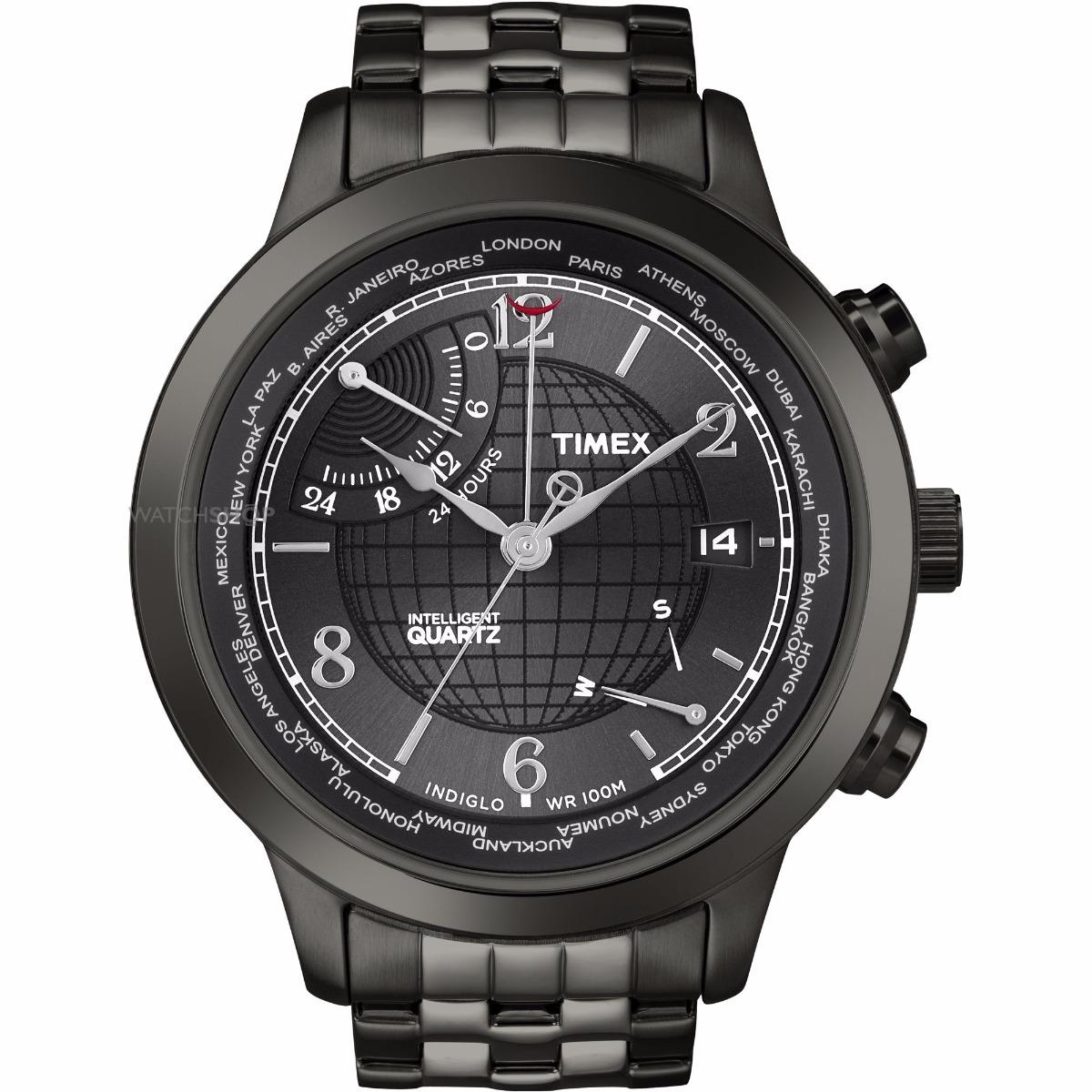 c9c8b7569048 Reloj Hombre Timex T2n614 World Time + Envio + Regalo ...