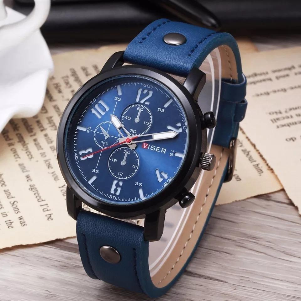 5a5a68d72174 reloj hombre tipo militar casual cuero varios colores lujo. Cargando zoom.