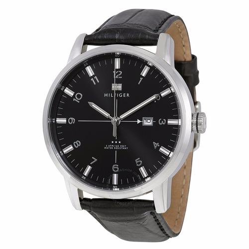 reloj hombre tommy hilfiger 1710330 calendario correa cuero