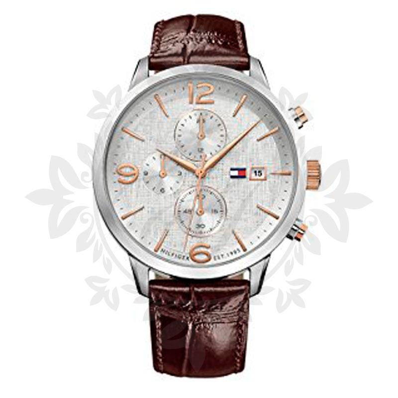1ca266101fe4 reloj hombre tommy hilfiger malla cuero caja sumergible. Cargando zoom.