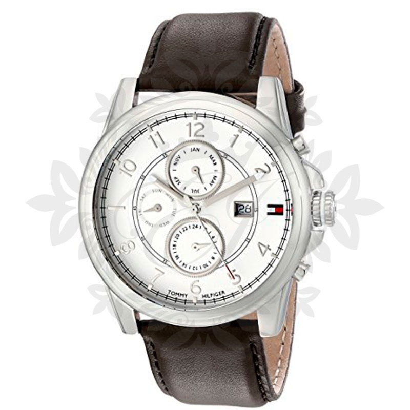 768ed68a2937 reloj hombre tommy hilfiger malla cuero cuadrante acero. Cargando zoom.
