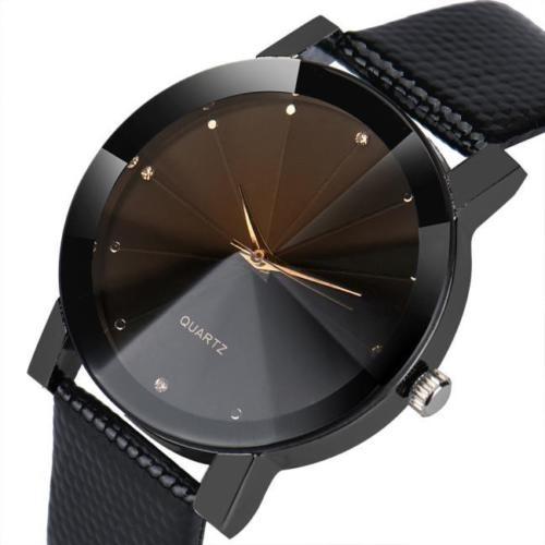 Reloj Hombre-vidrio Prisma- Negro C  Plateado Y Dorado -   485 439fd83e1827