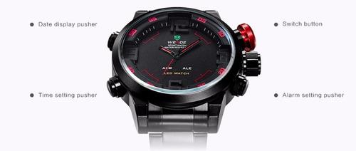 reloj hombre weide wh2309b deportivo buceo / relojesweide