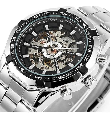 reloj hombre winner automatico 246, reloj skeleton