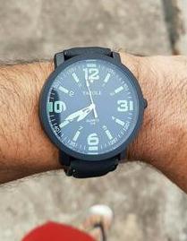 reloj hombre yazole luminoso deportivo - negro