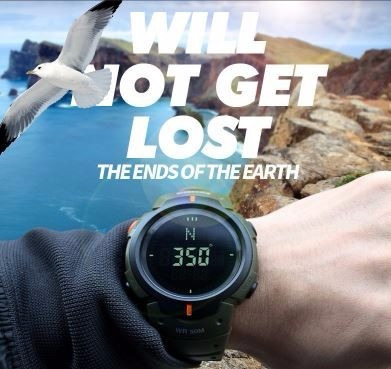 reloj hombremilitar digital brújula cronómetro hora mundial