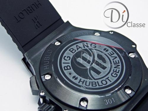 reloj hublo big bang clasic pave negro