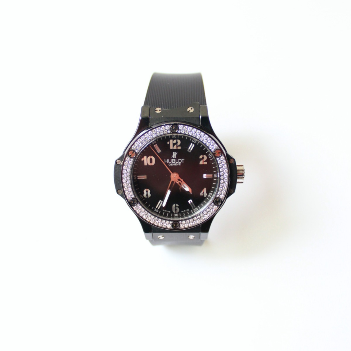 9d207ca35901 Reloj Hublot Big Bang Negro Con Diamantes -   6.900.000 en Mercado Libre