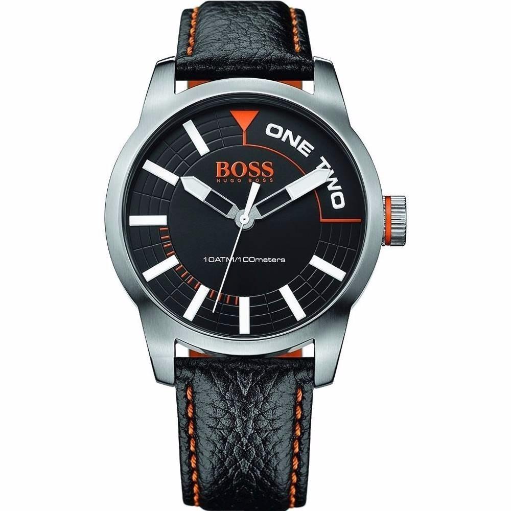 74ddb3522d4f reloj hugo boss 1513214 negro y plateado correa de piel. Cargando zoom.
