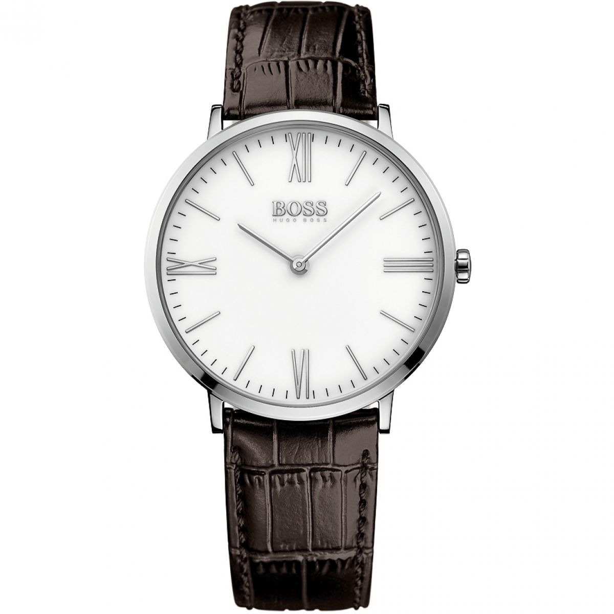 668e03cf00b3 reloj hugo boss 513373 correa cuero cafe original y nuevo. Cargando zoom.