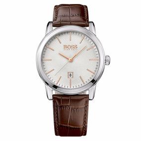 ce0fe3c5cf5d Reloj Hugo Boss 513399 Correa Cuero Cafe Original Y Nuevo
