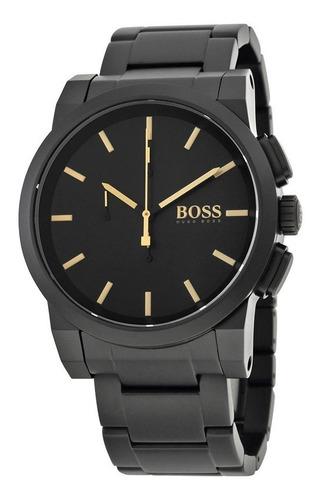 reloj hugo boss acero inoxidable negro hombre 1513276