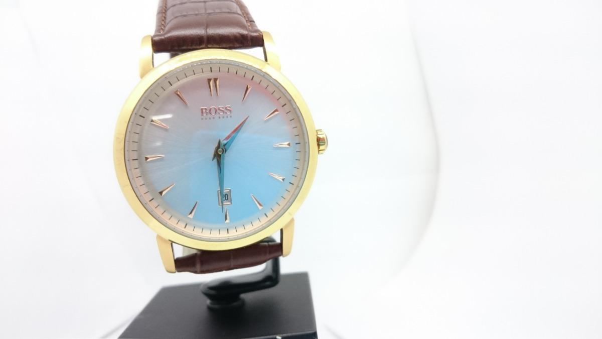 e5912ac0ed2a reloj hugo boss black piel cafe caja dorado plano 1512634. Cargando zoom.