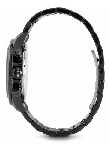 reloj hugo boss cronógrafo acero negro hombre 1512961