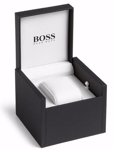 reloj hugo boss driver acero piel café hombre 1513118